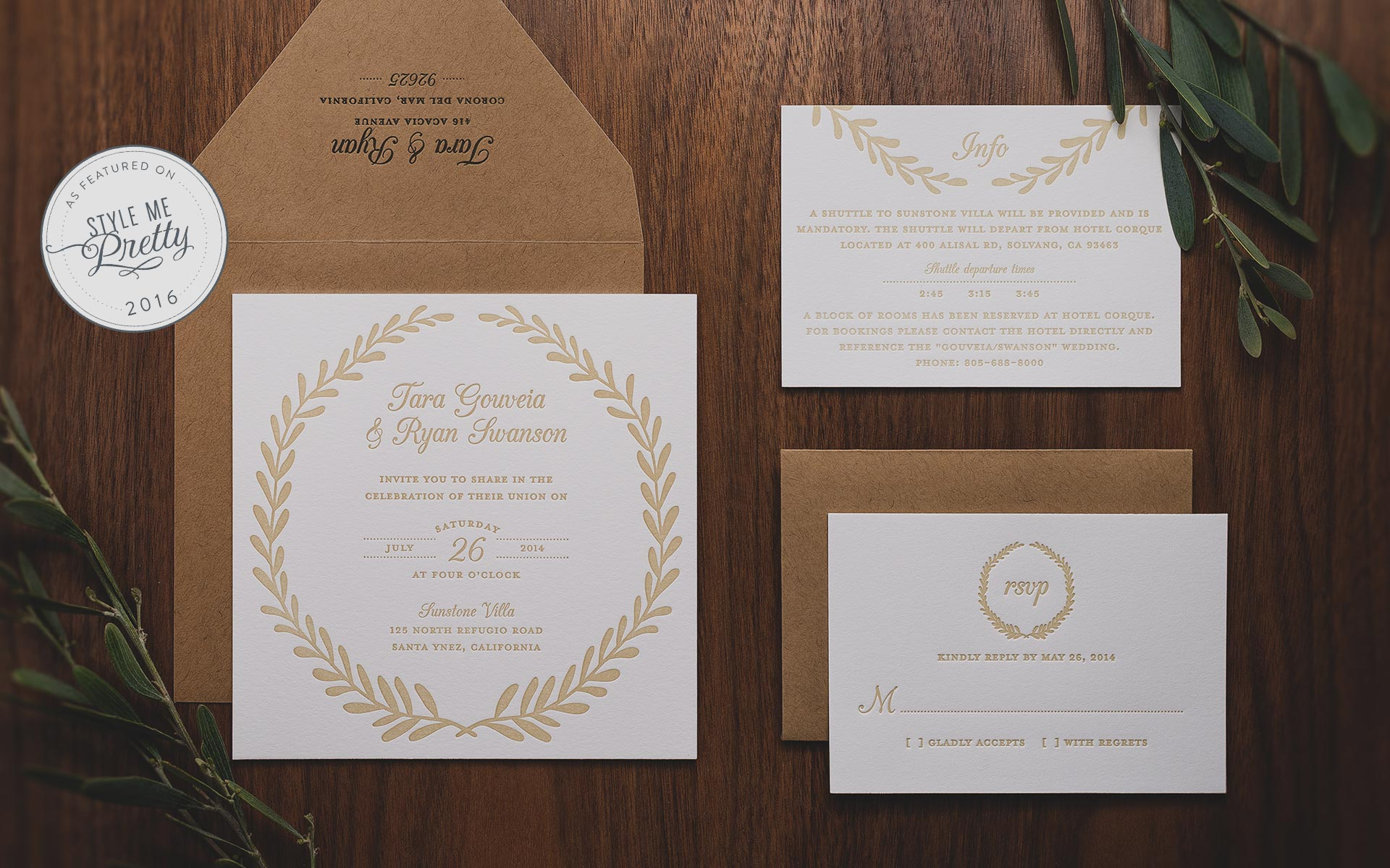 Laurel Wreath Invitation Suite